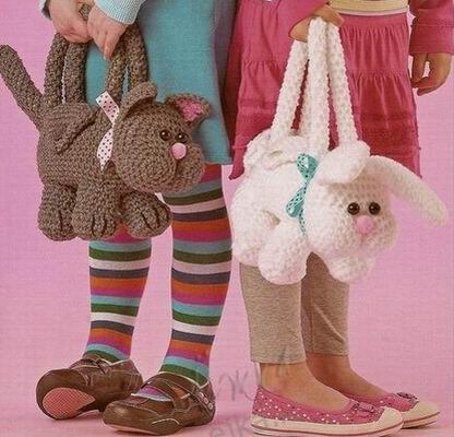 Детские сумки Амигуруми