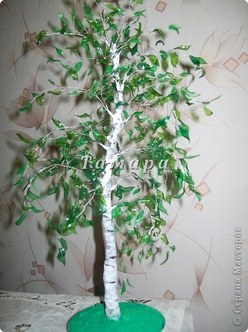 Дерево из пластиковой бутылки пошаговая инструкция