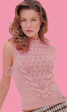 Вязание спицами: ажурная летняя кофточка c вышивкой на рукавах своими