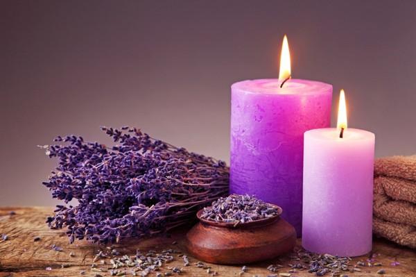Свеча с лавандой своими руками