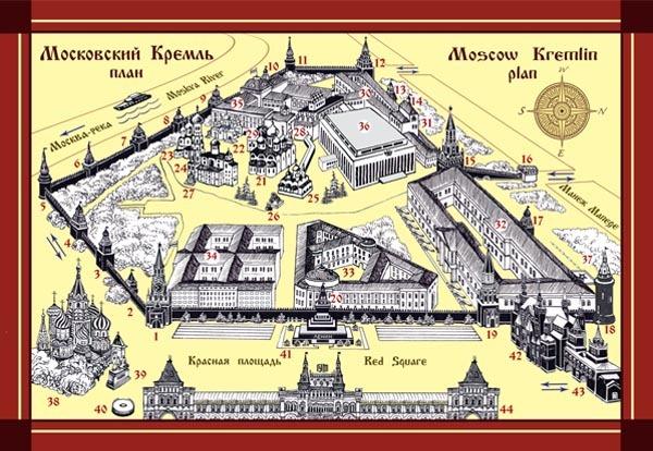 Схема Новодевичьего монастыря.