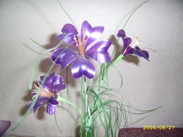 Пластиковые цветы  мастер класс видео