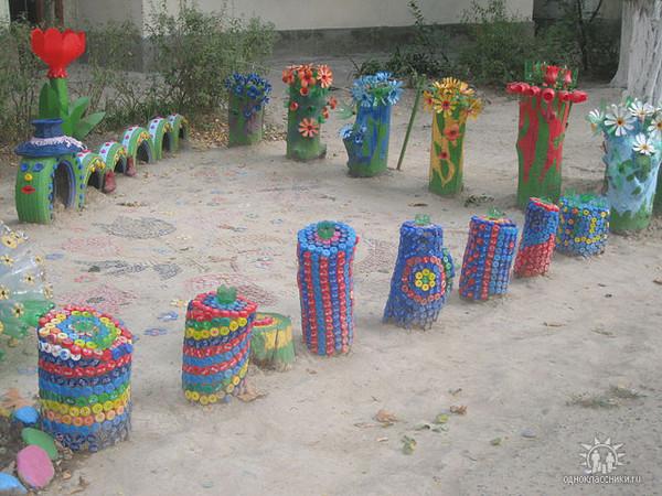 Поделки из пластиковых бутылок своими руками на детскую площадку 68