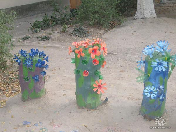 Поделки для сада своими руками из подручных материалов с фото