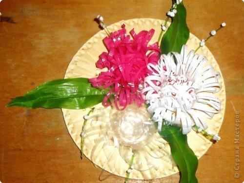 Цветы из пластиковых стаканов мастер класс