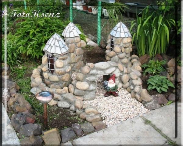 Декор из камня в саду своими руками 93