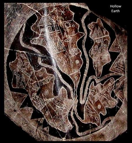 Камни Ики. Карты полой Земли.