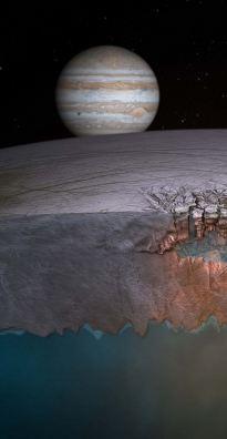 Европа- как спутник Юпитера, таит много загадок