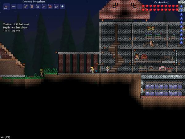 Небольшая крепость с пирамидой