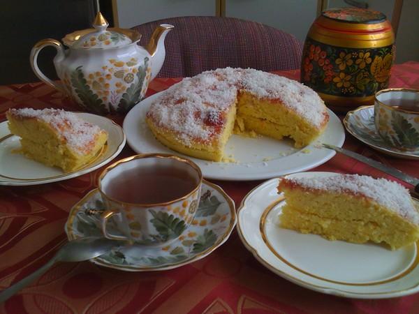 апельсиновый тортик в микроволновке i-667