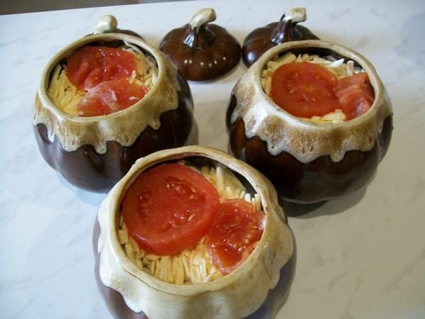 Печень индейки в горшочках