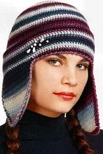Не скажу: Шапка с ушками - Вязание шапок - Узелок.