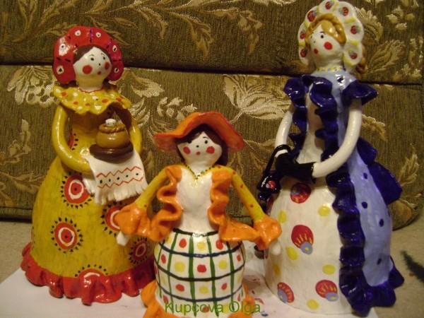Кукла из пластилина своими руками фото