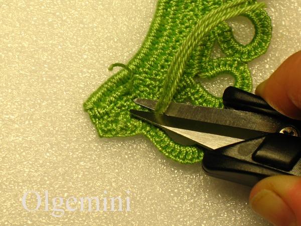 【引用】布鲁日蕾丝--连衣裙后腰带环钩法  - 荷塘秀色 - 茶之韵