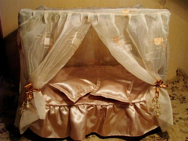 Кровать с балдахином для куклы барби своими руками 67