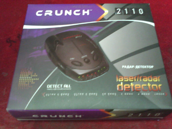 Антирадар crunch 2110 инструкция по применению