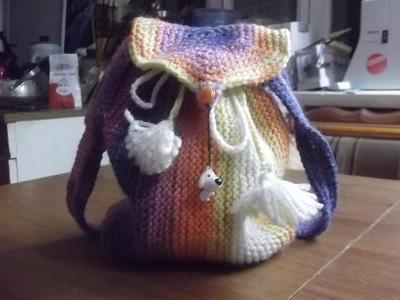 Метки: рюкзак, вязание