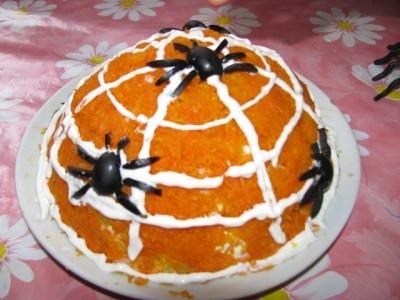 Салат человек паук