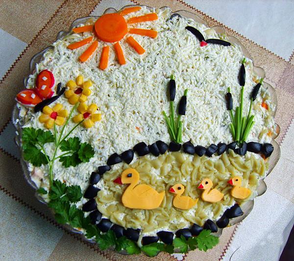 Украшение салатов на юбилей мужчины