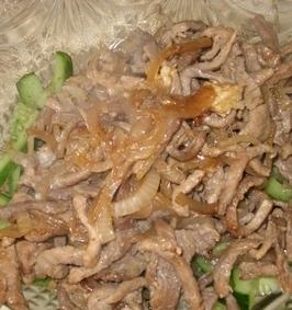 Огурец с мясом по-корейски