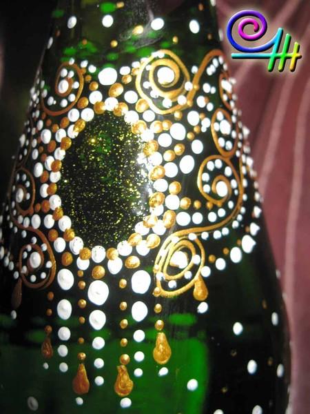 Оксана OZur Журавлева свадебный декор бутылок