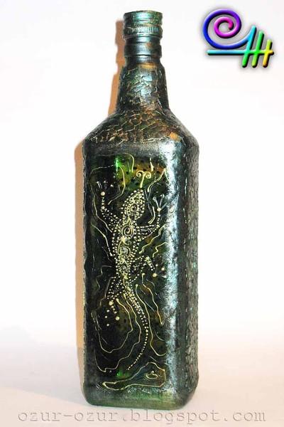 Оксана OZur роспись бутылок