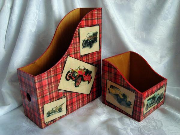 Фото Набор. Журнальница и коробочка для дисков