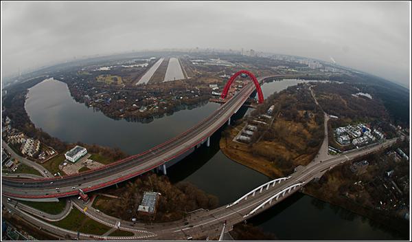 Земля - круглая! фотография вида моста с ул. маршала Жукова на Хорошевское шоссе или Новую Ригу