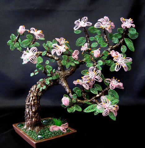 цветы с бисера