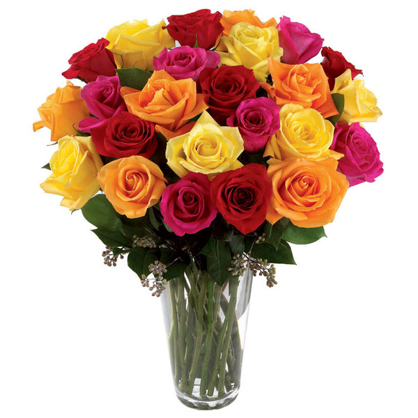 Сочетание цветов роз в букете