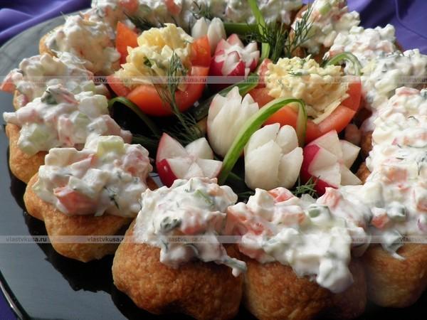 Порционные закуски для праздничного стола рецепты