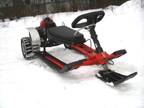 Детские самодельные снегоходы с двигателем
