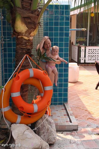 душ под пальмой