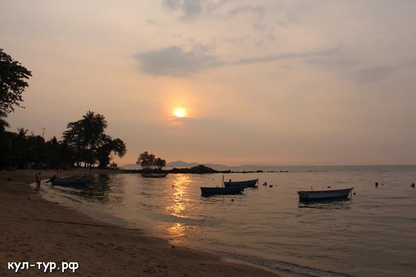 вечерняя паттая пляжи закат