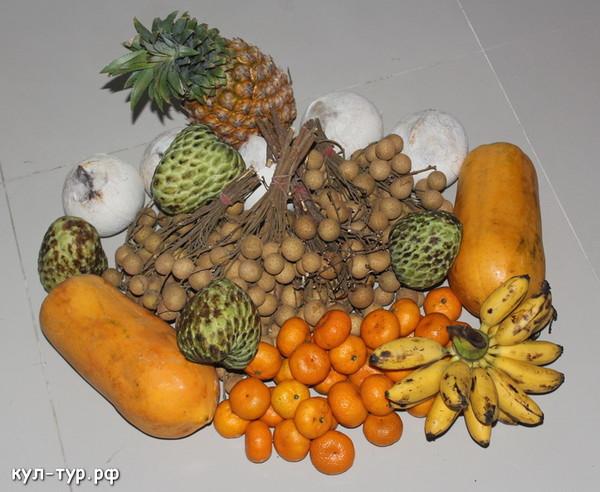 ужин фруктов