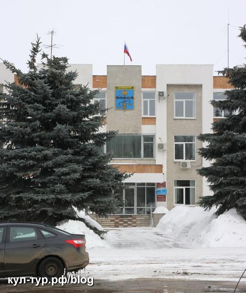 город Сухиничи зимой