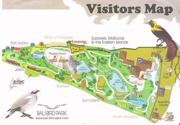 карта парка птиц и рептилий
