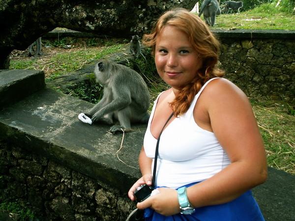 обезьяна воришка