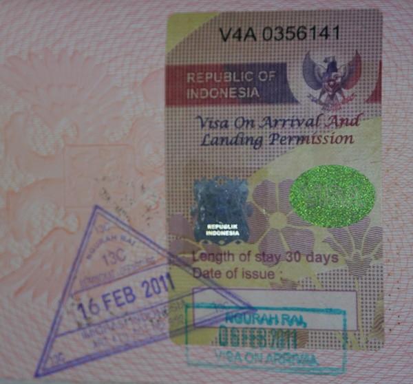 виза в Индонезии