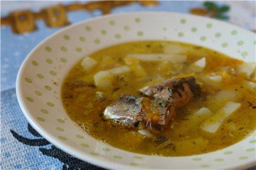 рыбный суп сайры рецепт фото