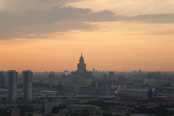 Москва с птичего полёта