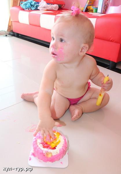 первый торт ребёнку