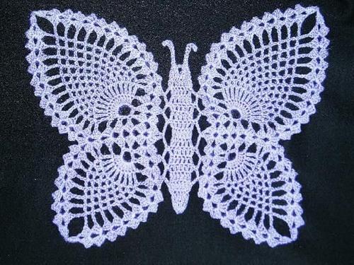 Бабочка крючком. Схема вязания