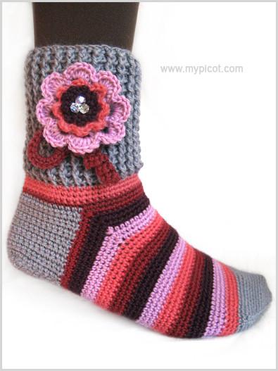 Вязание носков крючком для начинающих. связать носки крючком.