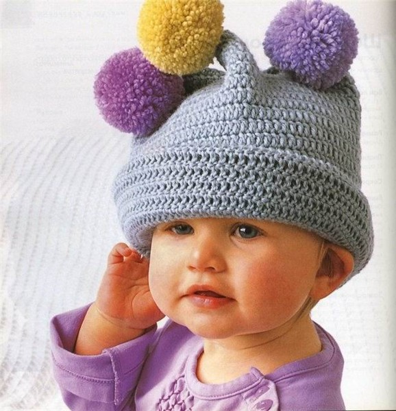 Continue reading.  Вязание шапок малышам.