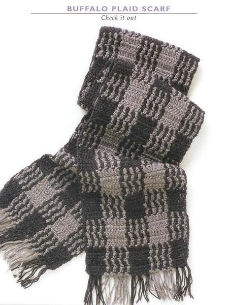 Мужской шарф крючком.