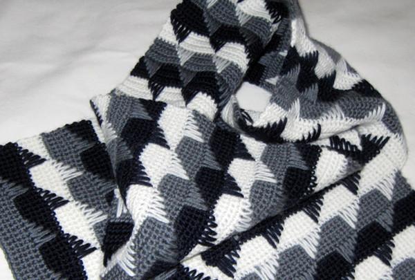 Узор для вязания шарфа (и не