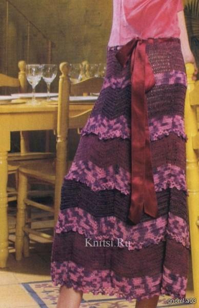 Длинная юбка. Схема вязания