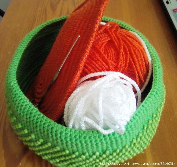 Вязание крючком с бисером.