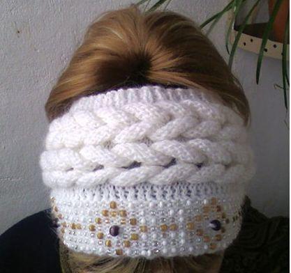 Вязаная повязка на голову